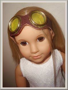 doll pilot goggles free craft