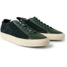 8689275bf42 Common Projects Vintage Achilles Panelled Leather and Suede Sneakers via  Polyvore Common Projects