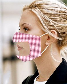 Easy Face Masks, Diy Face Mask, Clear Mask, Deaf People, Nose Mask, Trend Fashion, Creation Couture, Effective Communication, Diy Mask