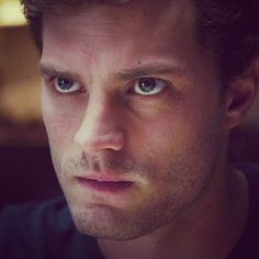 The pissed off look Mr. Grey is giving Ana when he was into the break room and sees what she is wearing....chapter 5