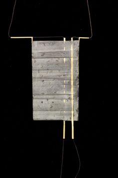 NOY ALON-ISRAEL brass and epoxy putty necklace