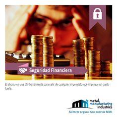 El ahorro es muy necesario para salir de cualquier imprevisto que implique hacer un gasto fuerte. #SeguridadFinanciera