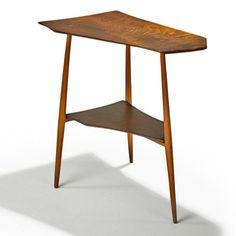 Wharton Esherick; Walnut and Hickory Table, 1956.