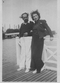 Oliverio Girondo y Norah Lange en La Recalada, Tigre.