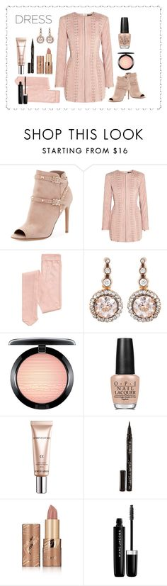 """Untitled #5484"" by patricia-dimmick on Polyvore featuring Valentino, Balmain, Selim Mouzannar, MAC Cosmetics, OPI, Giorgio Armani, Smith & Cult, tarte, Marc Jacobs and dress"
