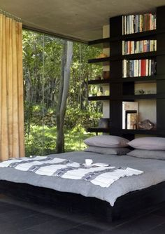 """The Pavilion is situated in the Cradle of Humankind is """"the closest you can get to living in nature without being exposed to the elements"""". Boconcept, Contemporary Bedroom, Contemporary Style, Architecture Design, Bedroom Images, Interior Photography, Rental Property, Dream Bedroom, Decoration"""