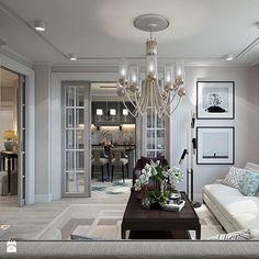Wnętrza w stulu nowojorskim. Meble lustrzane i tapicerowane z naszej oferty. - Salon, styl nowojorski - zdjęcie od PRIMAVERA-HOME.COM