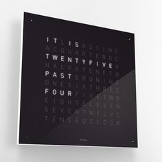 QLOCKTWO. Tells time the fun way.