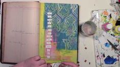 Backed into a corner in my art journal