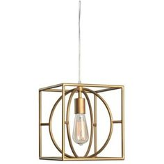 "Kenroy Home 93882 Adele Single Light 9"" Wide Cage Mini Pendant with"