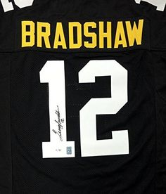 Pittsburgh Steelers Terry Bradshaw Autographed Black Jersey PSA DNA Stock   83043 at Amazon s Sports Collectibles Store d79a99304