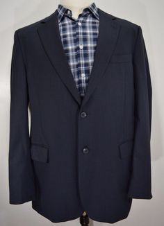 MARTIN'S mens 2 button green olive wool sport coat blazer jacket ...