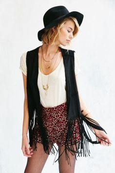 BLANKNYC Friday Fever Fringe Vest - Urban Outfitters