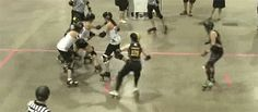 Great play to break up those blockers!