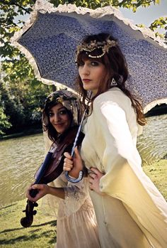 Florence Welch and Isabella Summers behind the scenes of the Rabbit Heart music video