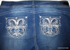WALLFLOWER NWT Bootcut Jeans Womens PLUS 20 LUSCIOUS CURVY Rhinestone BLING NEW #Wallflower #BootCut