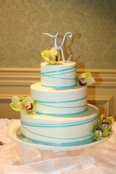 Pretty wrap around ribbon cake