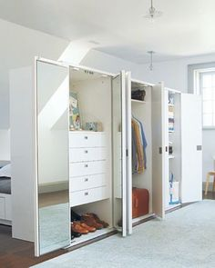 Image result for using two wardrobe to form a room divider