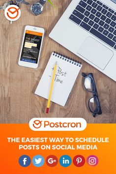Postcron is the easiest way to schedule posts on Facebook, Instagram, Twitter, Pinterest, Linkedin and Google+. Give it a try today!