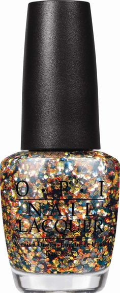 Love the color of the sparkles in this OPI nail polish but can't justify buying OPI polish in general because it's pricey- The Living Daylights- OPI James Bond #nails #nailpolish