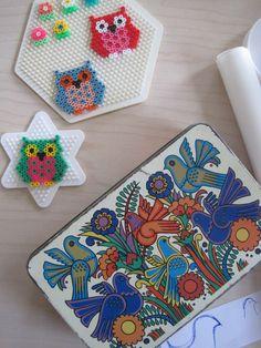 Owls hama perler beads by Sandra Jongedijk - Studio Van San