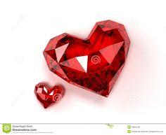 Ruby Hearts Royalty Free Stock Photos - Image: 18584128