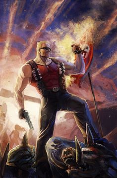 """Duke Nukem, taking """"Badassnes"""" to the next level. He is a character so strong and so fierce that he can make a wall explode by just blowing on it."""