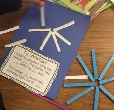 Place Value Craftivity - Classroom Cheer 1st Grade Math Games, Kindergarten Math Activities, First Grade Math, Fun Math, Teaching Math, Class Activities, Grade 2, Winter Activities, Second Grade