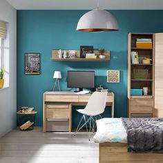 Energie și creativitate.  #mobexpert #backtoschool #mobiliercopii #birouricopii Office Desk, Home Office, Ideas Para, Interior Design, School, Furniture, Home Decor, Houses, Quartos