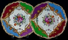 RUSSIAN  IMPERIAL PORCELAIN - I love the colors in this set!