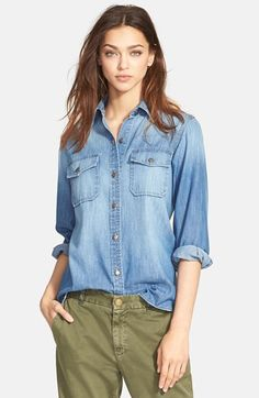 Current/Elliott+'The+Perfect+Shirt'+Denim+Shirt+available+at+#Nordstrom