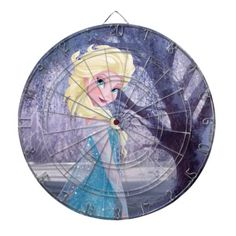 This Elsa dart board would make a terrific gift for a Frozen lover who also plays darts, or maybe they are decorating a room with a Frozen theme but it might also make a great gift for someone who is already so very over this fun Disney movie.  I know a few Moms and Dads who might like to throw a dart or two at this gorgeous board.  Just saying...