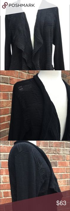 Calvin Klein Draped Collar Long Sleeve Loose Knit Beautiful draped cascade collar, long sleeve, loose knit - lightweight perfect for dressy, casual or professional!! Rayon / silk -- hand wash Calvin Klein Sweaters Cardigans
