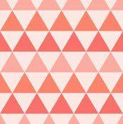 Peach Triangles - kimsa - Spoonflower