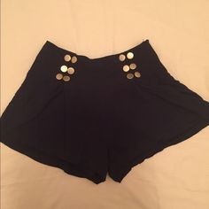 Black shorts Material Girl black shorts with golden button.no trade ✔️ bundle and save Material Girl Shorts