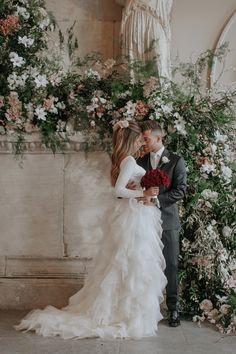 Lydia Elise Millen Dress by Kate Halfpenny Hair by Despina Sianou flowers Maison De Fleurs Make up ByTerry Winter Wedding 2017 Aynhoe Park