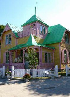 pippi longstocking's house, Villa Villekulla, in Kneippby, Sweden