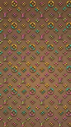Louis Vuitton Rainbow Rose Wallpaper by iCandy Randoms