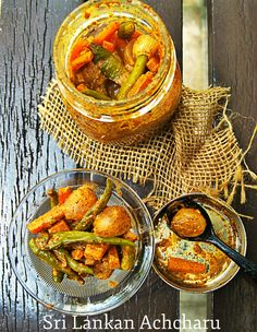 Sri Lankan Achcharu is a famous pickle, can be served as a relish or as a side dish with any main meal. Indian Food Recipes, Diet Recipes, Healthy Recipes, Ethnic Recipes, Vegetarian Recipes, Recipies, Small Food Processor, Food Processor Recipes, Sri Lankan Recipes