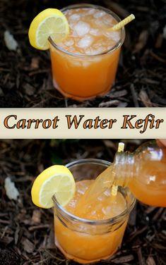 The surprisingly delicious probiotic drink. Carrot juice is good for eyes as well. Probiotic Drinks, Best Probiotic, Kefir Probiotic, Kombucha, Vitamins In Carrots, Carrot Juice Benefits, Kefir Culture, Kefir Recipes, Drink Recipes