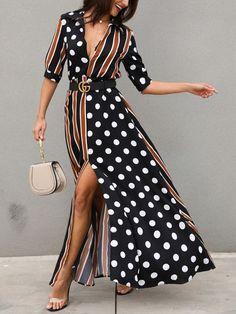 Shop Sexy Trending Dresses – Chic Me offers the best women's fashion Dresses deals Maxi Dress With Slit, Floral Maxi Dress, Boho Dress, Dress Skirt, Maxi Dresses, Casual Dresses, Hijab Casual, Formal Outfits, Short Beach Dresses