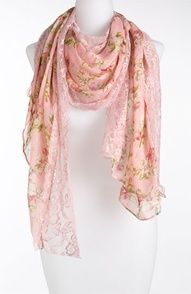 sheer floral and lace scarf.  beautiful