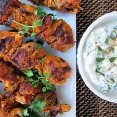 Tandoori Chicken Kabobs with Cucumber Raita