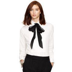 Cotton Poplin Tuxedo Shirt - Polo Ralph Lauren Long-Sleeve - RalphLauren.com