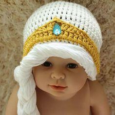 Elsa Wool Cap Kids Cap Baby Crochet Hats Girls Caps Hand Knitted ...