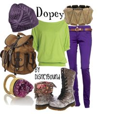 purely repinned this because the Dopes was my fav. this outfit...not so much.