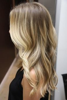 light brown to blonde balayage ombre