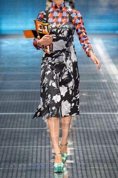 Prada   Wrap-effect printed satin-twill midi dress   NET-A-PORTER.COM