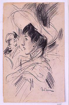 """Giovanni Boldini (1842-1931) """"Ritratto di Signora"""" 1905"""