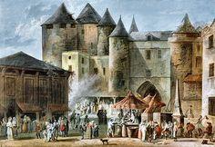 Paris : le Grand Châtelet et la place de l'Apport-Paris, par Thomas-Charles Naudet (1773-1810. (Musée Carnavalet, Paris). Notice sur Thomas-Charles Naudet  ==> http://gallica.bnf.fr/ark:/12148/bpt6k5725229z/f3.image